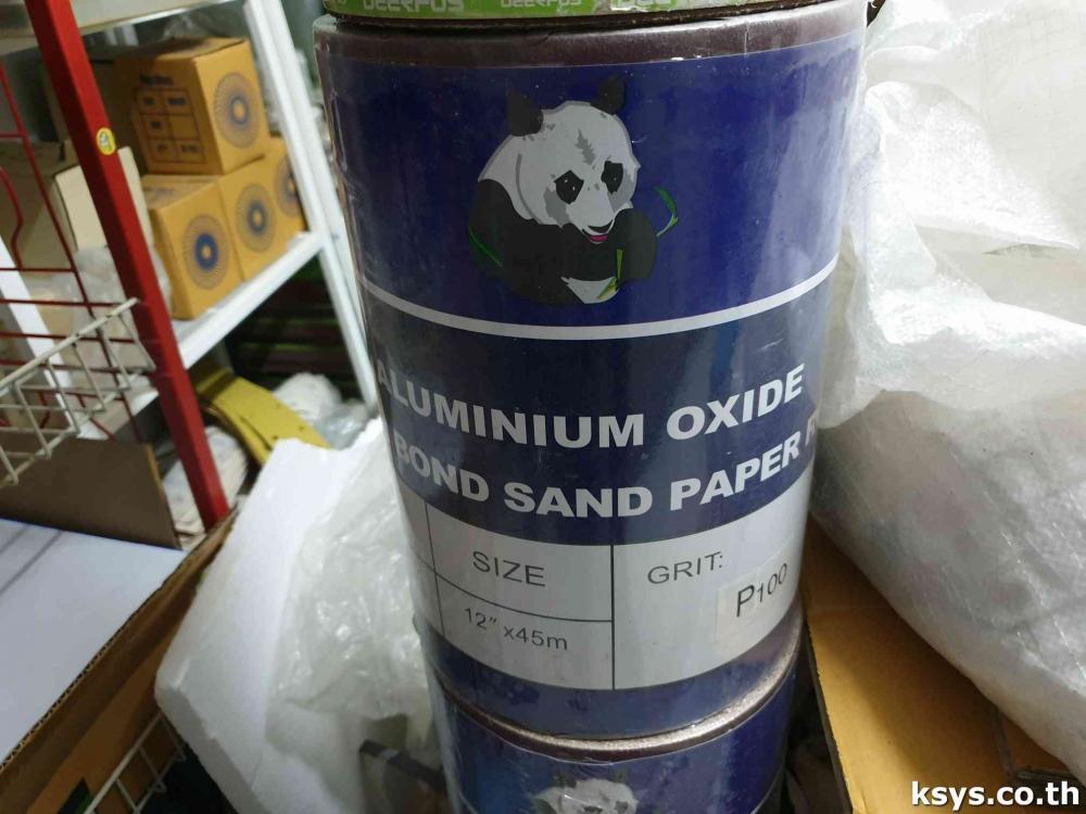กระดาษทรายม้วน PANDABOSS 12นิ้ว ยาว45เมตร เบอร์ 100