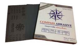 กระดาษทรายน้ำ COMPASS CW12L