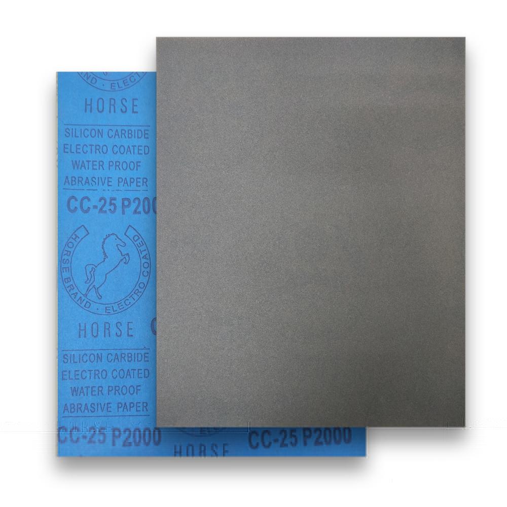 กระดาษทรายน้ำ/ขัดแห้ง ตราม้าฟ้า Horse CC-25 ขนาด 9นิ้วx11นิ้ว