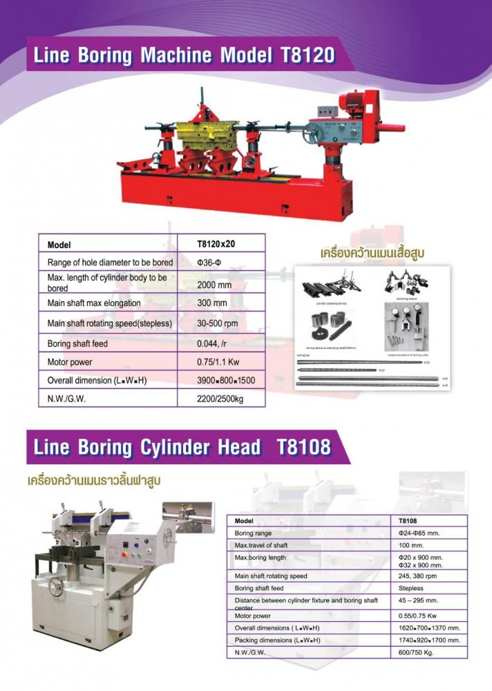 LINE BORING MACHINE MODEL T8120