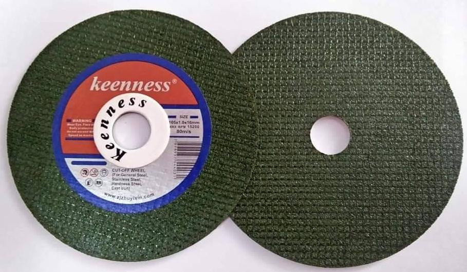 """ใบตัดสแตนเลส Keeness สีเขียว 4"""" หนา1มิล"""
