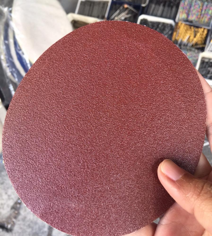 กระดาษทรายกลม TOA หลังสักหลาด 5นิ้ว ขัดไม้ ไม่มีรู, 5รู, 6รู, 8รู