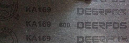 ผ้าทรายสายพาน  deerfos KA169  4นิ้วx97นิ้ว เบอร์#600