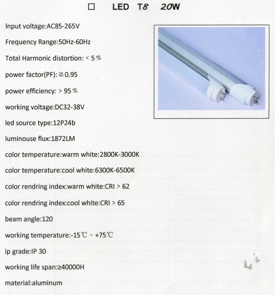 หลอดยาว LED Tube 20W