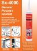 ซิลิโคนยาแนว Sealex SX-4000 หลอดสีส้ม(คายไอกรด) 300ml. แบบแห้งเร็ว