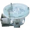 ็โคมดาวไลท์ 2xE27 8นิ้ว ตัวโคมอลูมิเนียมไดคลาสกระจกปิด HTFDS2008G